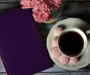 coffee, rose, and sweet image