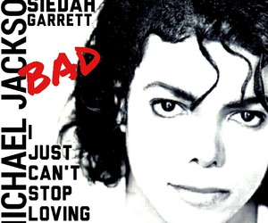 album cover, bad, and michael jackson image