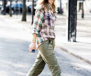 pumps, flannel cargo, and pants with metallic image