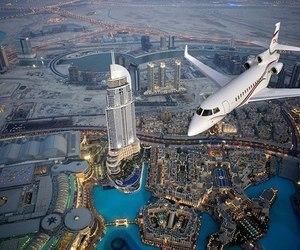 beautiful, plane, and Dubai image