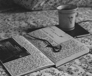 book, photography, and tea image