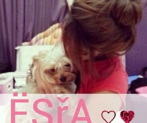 dog, esra, and girl image