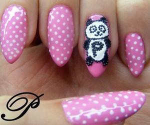 nail, nail polish, and panda image