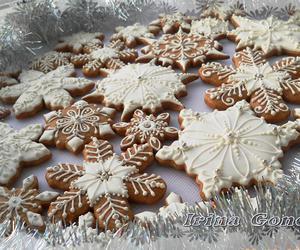 cake, snowflake, and Cookies image