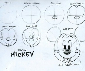 diy, draw, and mickey image