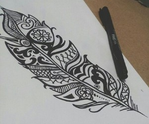 draw and feather image