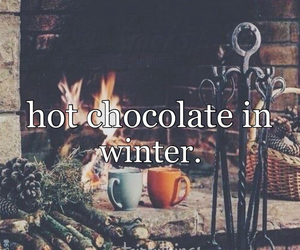 winter and hot chocolate image