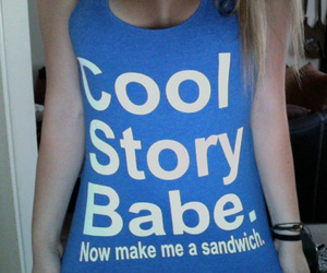 blonde, girl, and cool story image