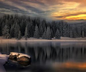 winter, beautiful, and lake image