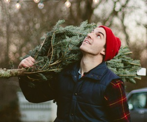 boy, christmas, and tree image