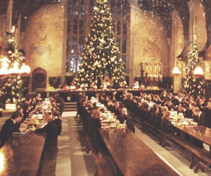 christmas, harry potter, and hogwarts image
