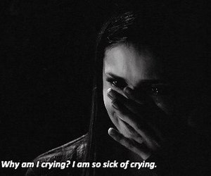 crying, cry, and tvd image