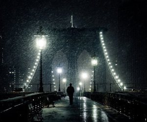 light, rain, and lantern image