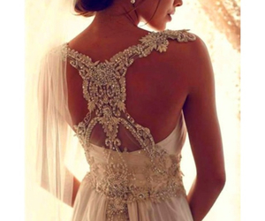 bride, love, and dress image