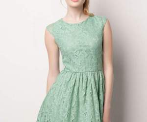 dress, vestido, and green image