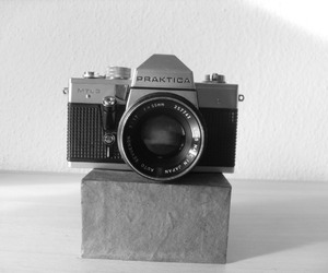black and white, camera, and hipster image