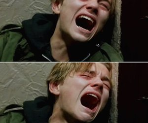 leonardo dicaprio, cry, and sad image
