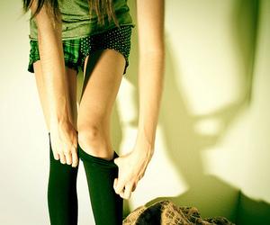 green, shadow, and skinny image