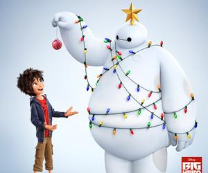 big hero 6, baymax, and christmas image