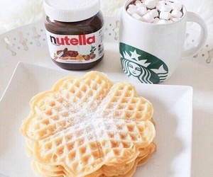 breakfast, waffles, and i want that image