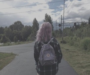 dyed hair, pink hair, and pretty cool image