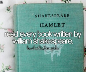 bucketlist, beforeidie, and shakespeare image