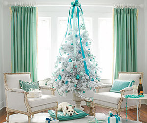 christmas, blue, and christmas tree image