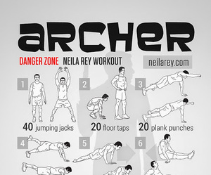 archer, workout, and neilarey image