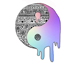 gradient, yinyang, and transparents image