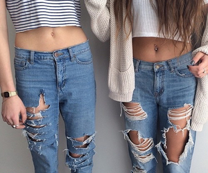 blue jeans, popular, and style image