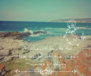 life, quotes, and ocean image