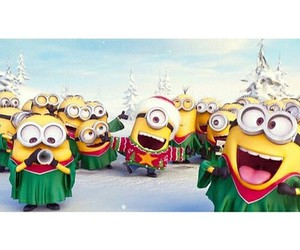 minions, winter, and banana image