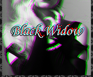 black and white, black widow, and celebrities image