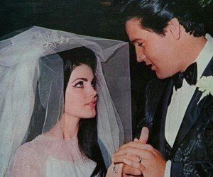 elvis, wedding, and couple image