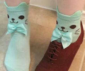 kawaii, socks, and cat image