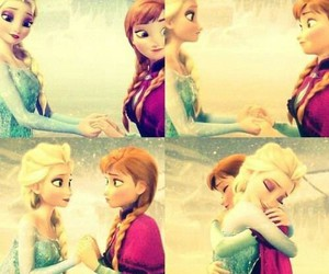 frozen, sisters, and anna image