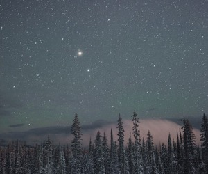 stars, sky, and snow image
