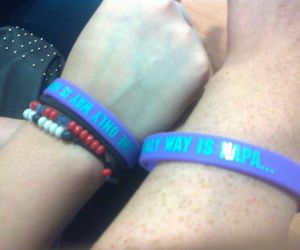 bracelets, summer writing, and fun image