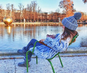 winter, girl, and love image