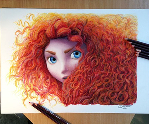 drawing, brave, and disney image