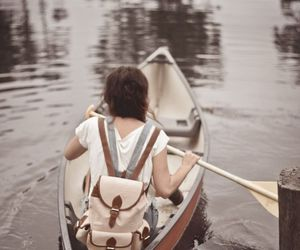 girl, adventure, and boat image