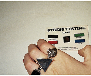 stress, rings, and card image