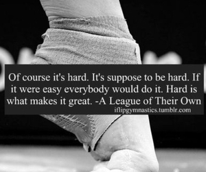 gymnastics, hard, and quote image