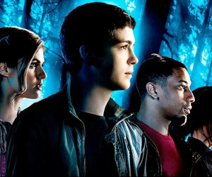 tyson, annabeth chase, and percy jackson image
