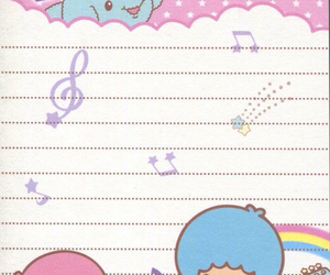 memo, sanrio, and little twin stars image