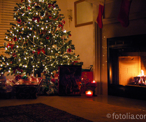 christmas, decorations, and fire image