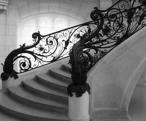 black and staircase image