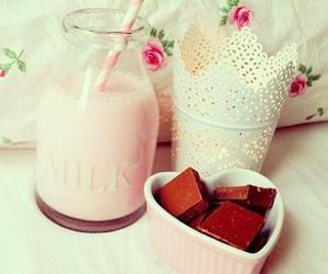 chocolate, milk, and food image