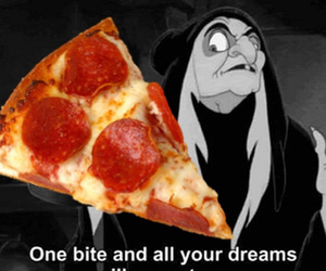 pizza, funny, and snow white image