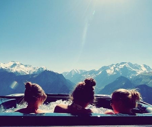 life, mountains, and snowboarding image